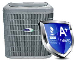 Carrier air conditioners in Las Cruces give us a A+ Rating with BBB